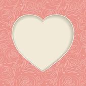 粉红色玫瑰帧 — 图库矢量图片