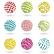 Royalty-Free Stock Vector Image: Color planet icons