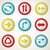 Arrow buttons — Vector de stock
