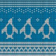 Blue knitted background. — Imagens vectoriais em stock