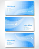Set of templates for business cards. Vector illustration. — Stock Vector