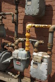 Natural Gas meters — Stock Photo