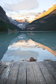 Lake Louise at dawn — Stock Photo