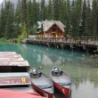Canoes on Emerald Lake — Stock Photo
