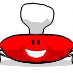 蟹厨师 — 图库照片
