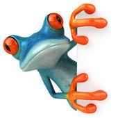 蓝色的青蛙 — 图库照片