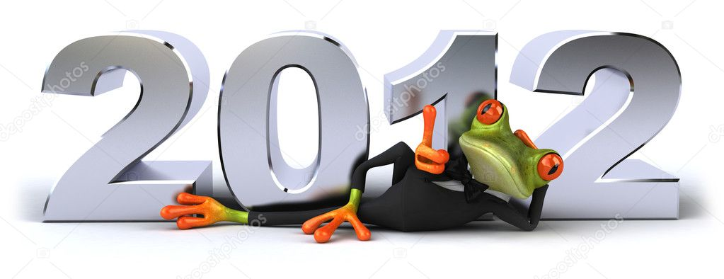 Business frog and 2012 — Stock Photo #8063033