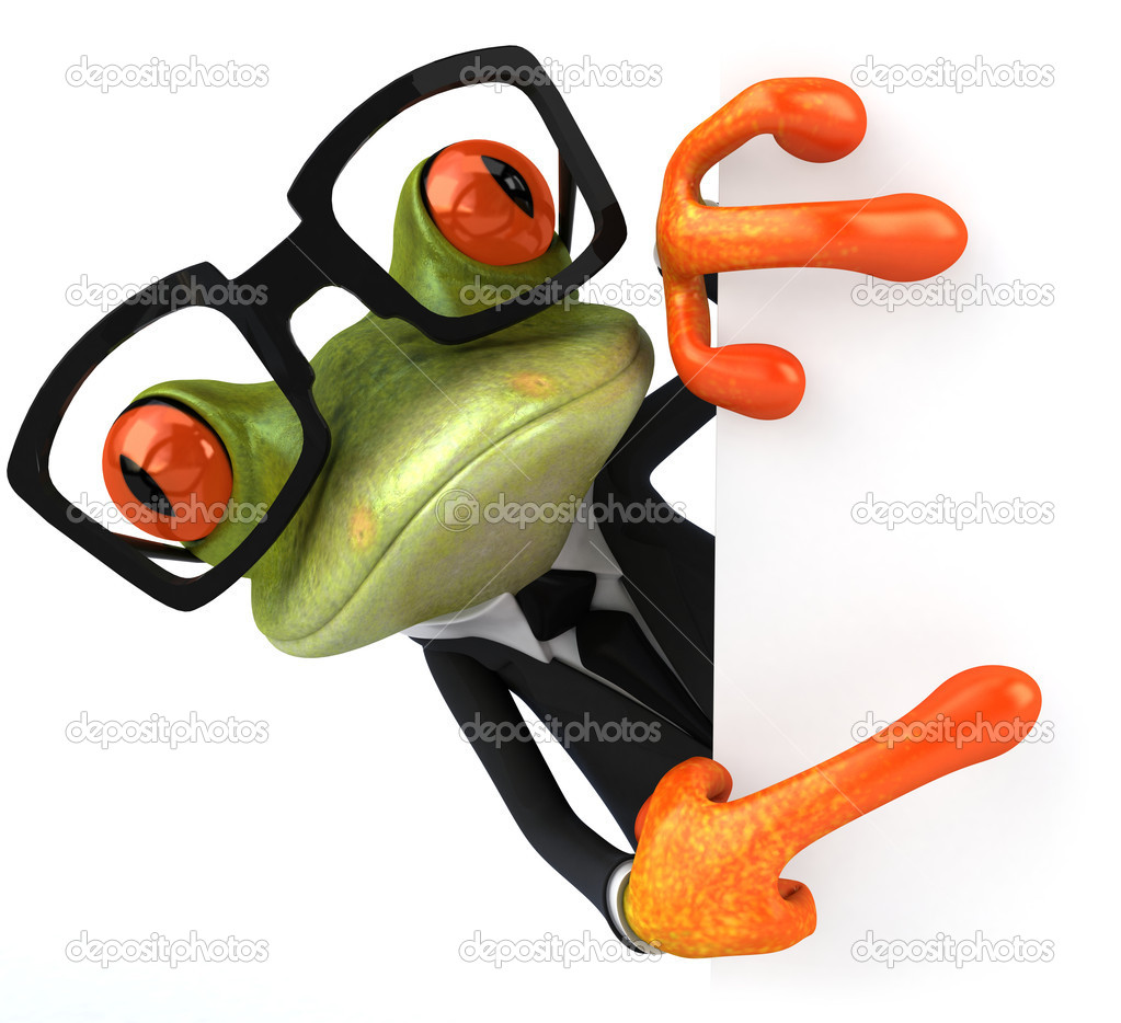 Business frog  Stock Photo #8063040