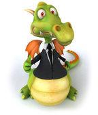 Business dragon — Stock Photo
