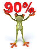 A frog with 90 percent sign — Stock Photo