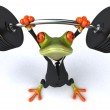 Strong frog 3d — Stock Photo