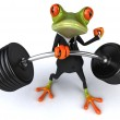 Strong frog 3d — Stock Photo #8333148