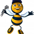 Stock Photo: Fun bee 3d