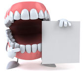 Fun teeth 3d — Stock Photo