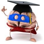 Super brain with bonet 3d — Stock Photo