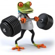 Strong frog doctor 3d — Stock Photo