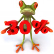 Frog offering discount 3d — Stock Photo #8526239