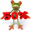 Frog offering discount 3d — Stock Photo #8526252