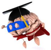 Super cerebro con bonet 3d — Foto de Stock