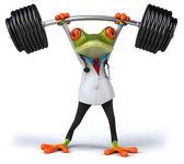3 d を医者の強いカエル — ストック写真