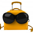 Suitcase 3d - Stock Photo