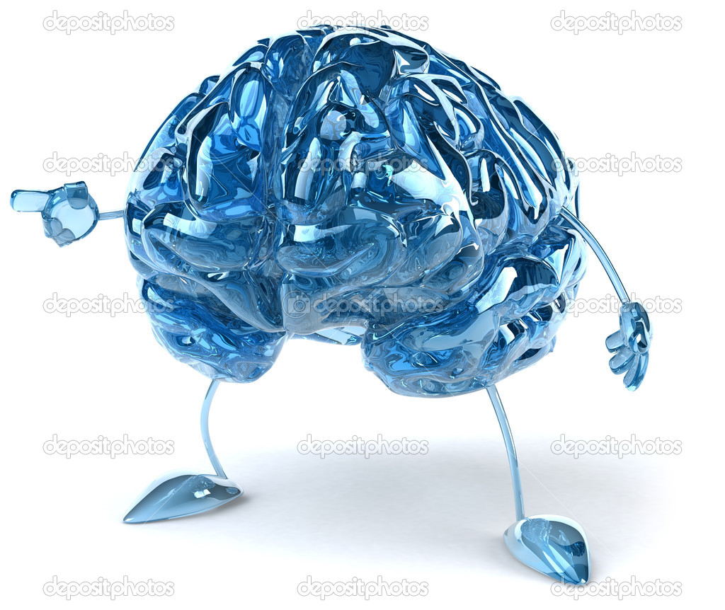 Brain illustration 3d  Stock Photo #8544549