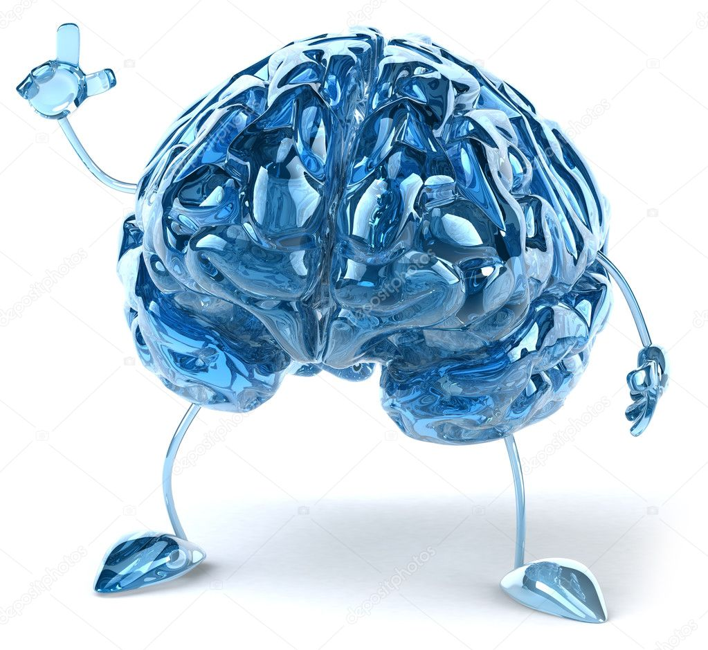 Brain illustration 3d  Stock Photo #8544712