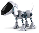 Dog robot 3d — Stock Photo
