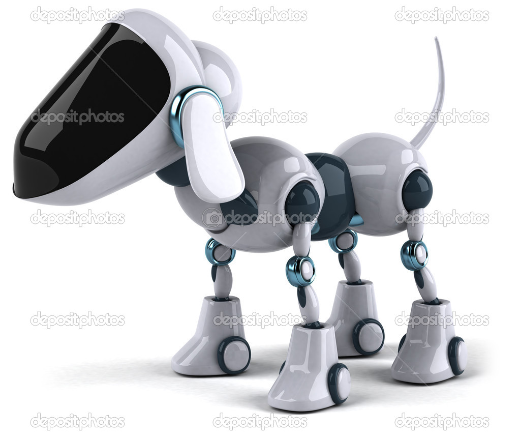 Dog robot 3d — Stock Photo #8558649