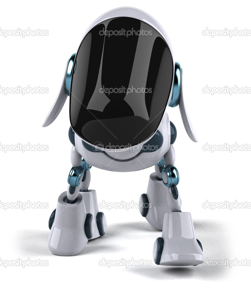 Dog robot 3d — Stock Photo #8558657