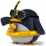 pinguim 3d — Foto Stock