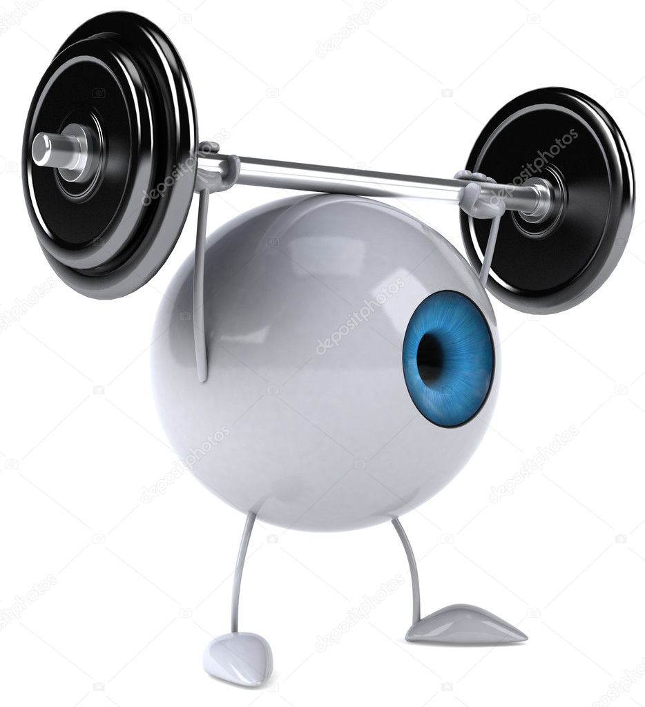 Eye with weight 3d illustration  Stock Photo #8633536