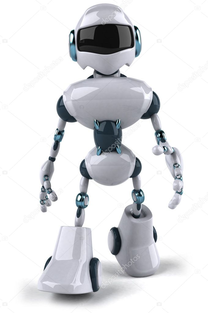 Robot 3d — Stock Photo #8633549