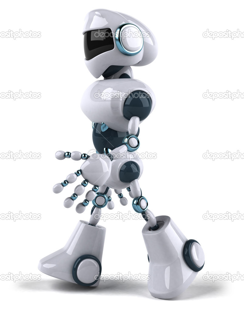 Robot 3d — Stock Photo #8633552