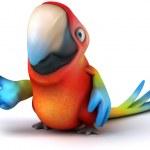 Parrot 3d — Stock Photo #8795222