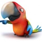 Parrot 3d — Stock Photo #8795279