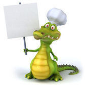 Crocodile chef 3d — Stock Photo