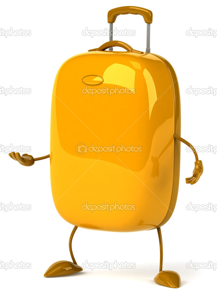 Happy suitcase 3d — Stock Photo #8882249