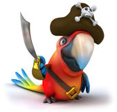 Pirate parrot 3d — Stock Photo