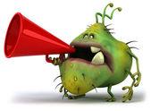 Germ monster — Stock Photo