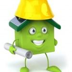 Зеленый дом — Стоковое фото