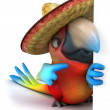 Mexican parrot — Stock Photo #9455866