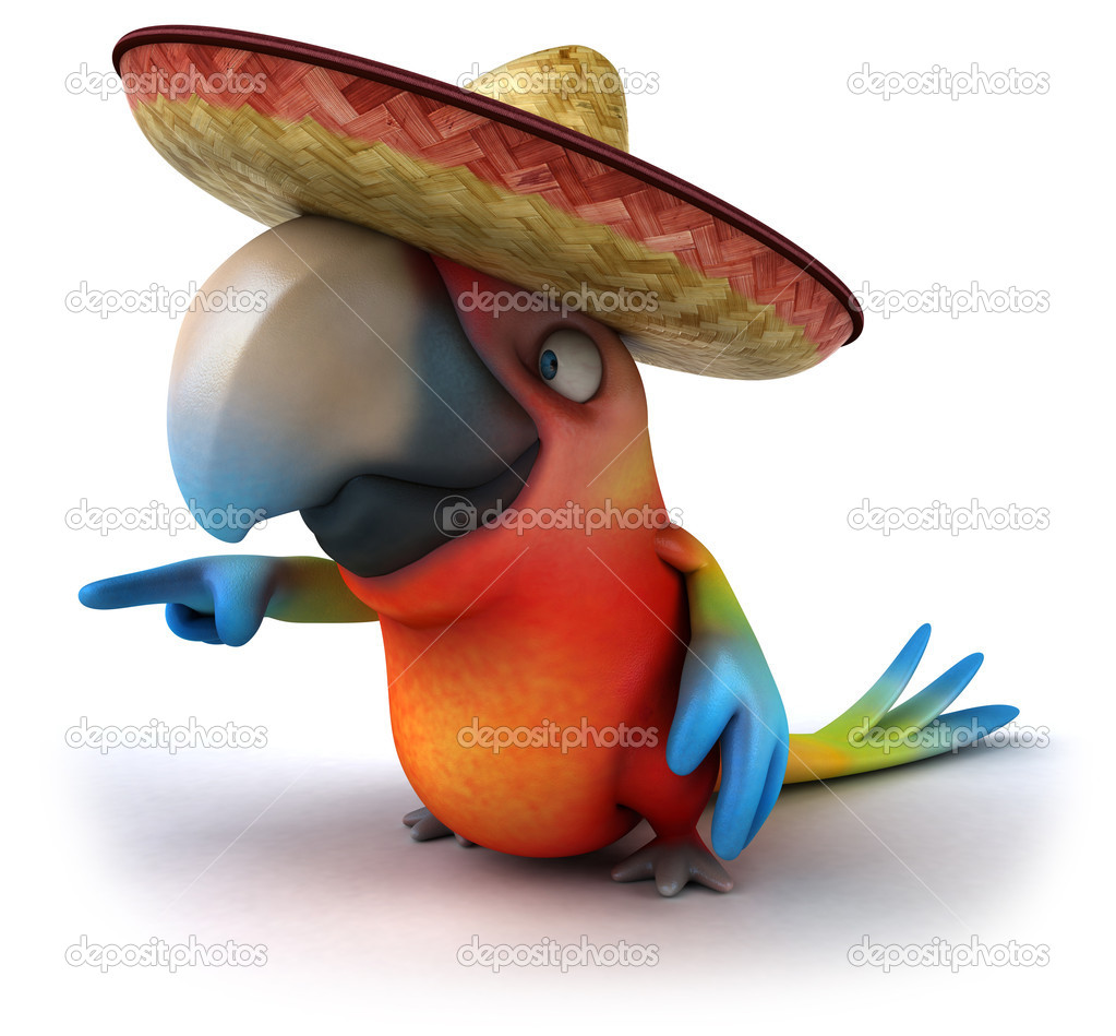 Mexican parrot — Stock Photo #9455840