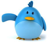 Kreslený modrý pták — Stock fotografie