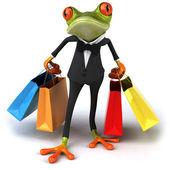Frog shopping — Stock Photo