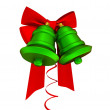 Red ribbons and green bells — Stock Photo #8431754