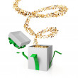 Gift box with a golden curl. — Stock Photo #8432511