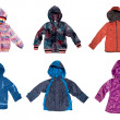 Stock Photo: Children's warm jackets