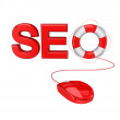 Royalty-Free Stock Photo: Stylized word SEO.