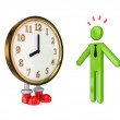 3d small person and large watch. — Stock Photo #8434098